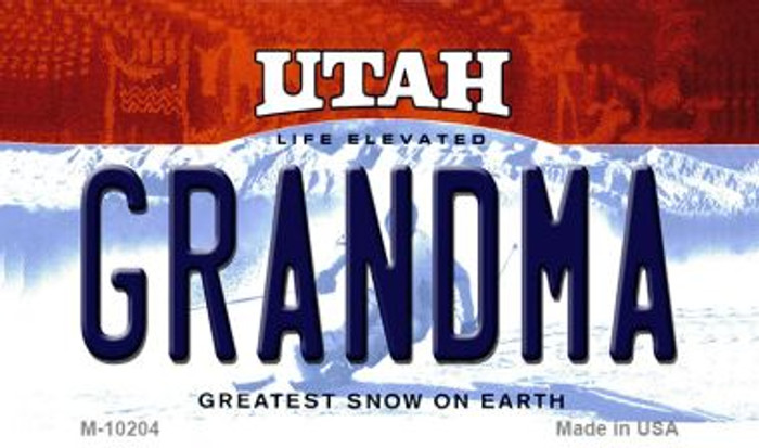Grandma Utah State License Plate Wholesale Magnet