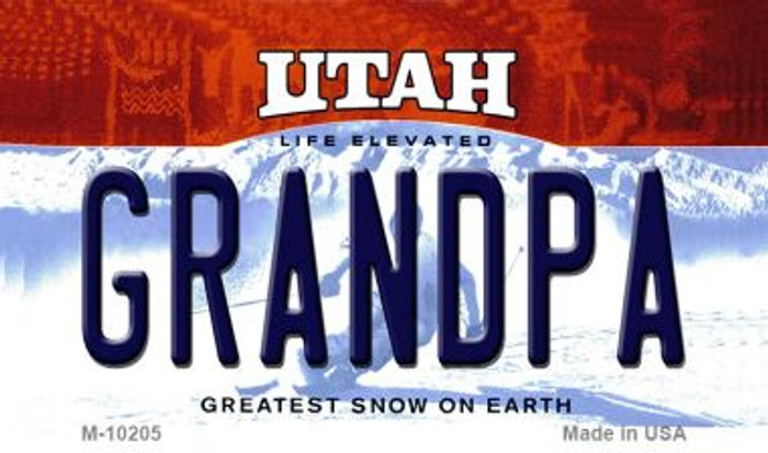 Grandpa Utah State License Plate Wholesale Magnet