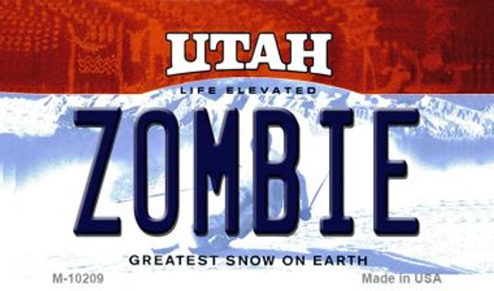 Zombie Utah State License Plate Wholesale Magnet