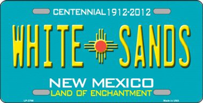 White Sands New Mexico Teal Wholesale Novelty Metal License Plate LP-2798