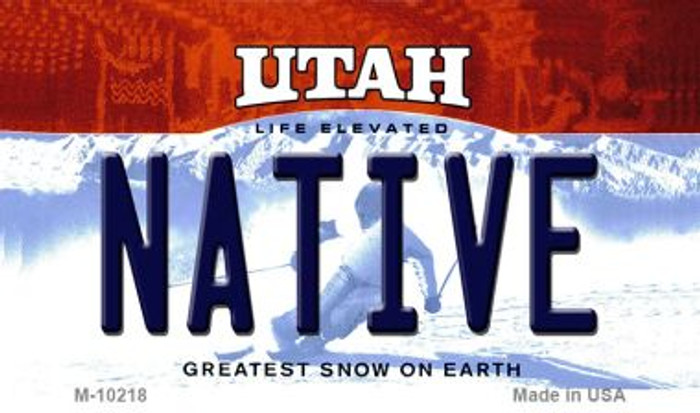 Native Utah State License Plate Wholesale Magnet
