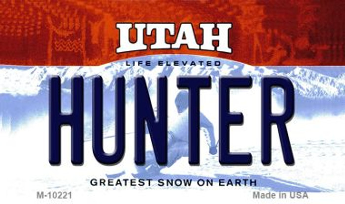 Hunter Utah State License Plate Wholesale Magnet