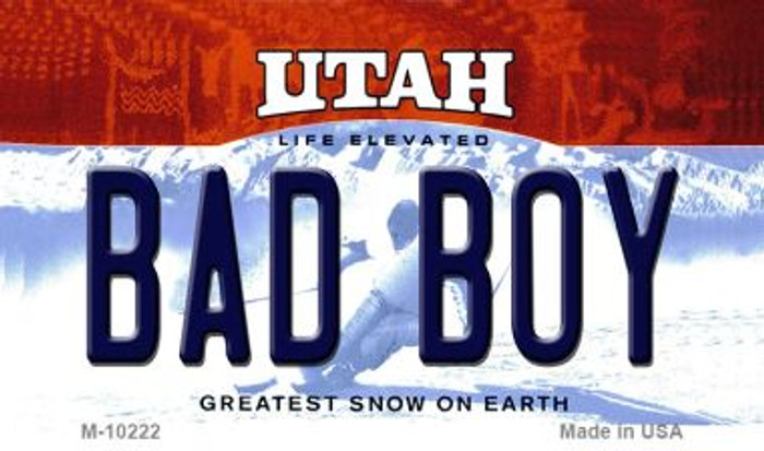 Bad Boy Utah State License Plate Wholesale Magnet