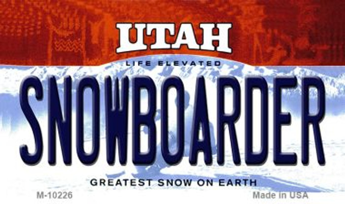 Snowboarder Utah State License Plate Wholesale Magnet