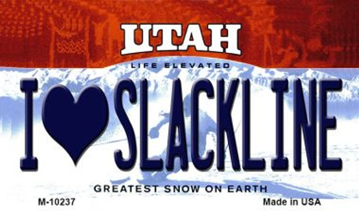 I Love Slackline Utah State License Plate Wholesale Magnet