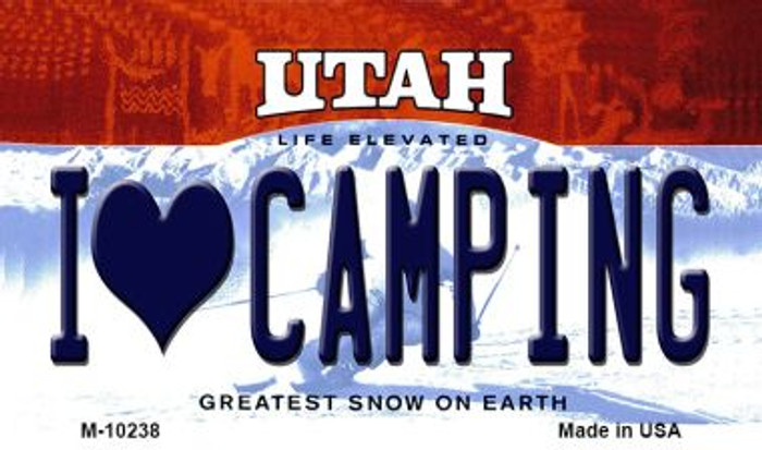 I Love Camping Utah State License Plate Wholesale Magnet