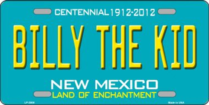 Billy The Kid New Mexico Teal Wholesale Novelty Metal License Plate LP-2800