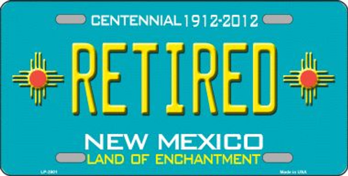 Retired New Mexico Teal Wholesale Novelty Metal License Plate LP-2801