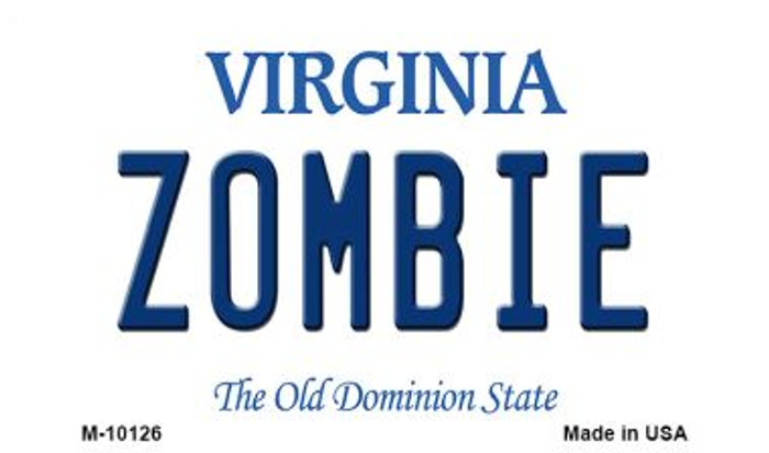 Zombie Virginia State License Plate Wholesale Magnet