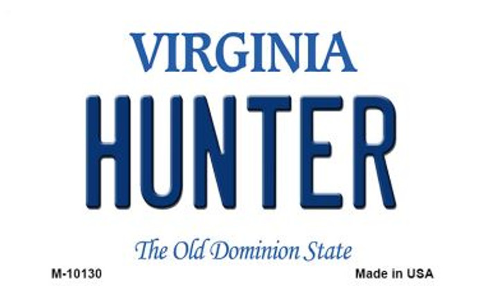 Hunter Virginia State License Plate Wholesale Magnet