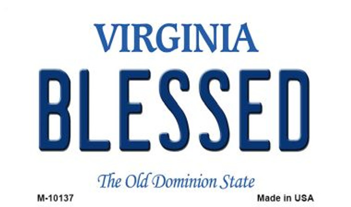 Blessed Virginia State License Plate Wholesale Magnet
