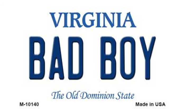 Bad Boy Virginia State License Plate Wholesale Magnet
