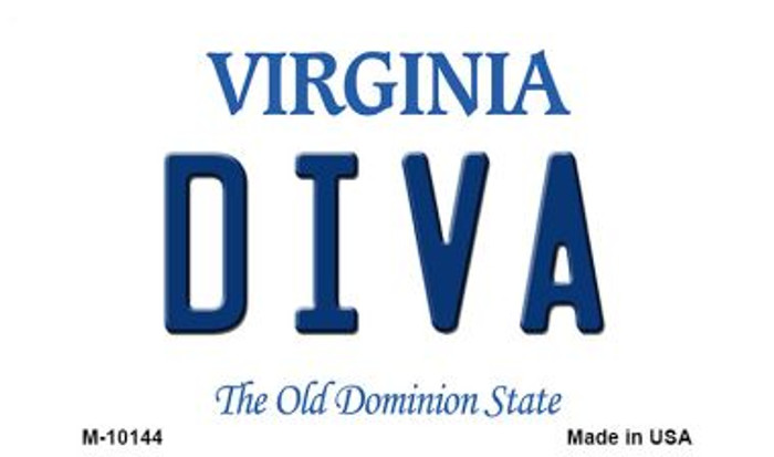 Diva Virginia State License Plate Wholesale Magnet