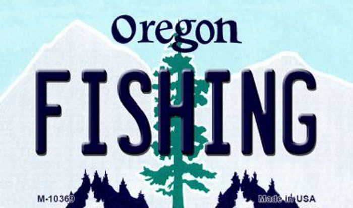 Fishing Oregon State License Plate Wholesale Magnet