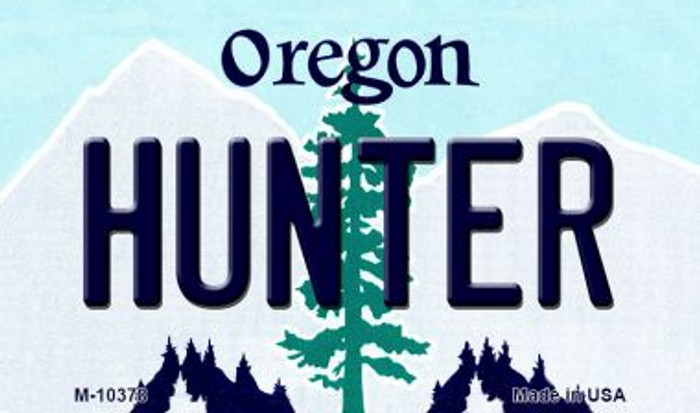 Hunter Oregon State License Plate Wholesale Magnet
