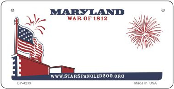 Maryland State Background Novelty Wholesale Bicycle License Plate