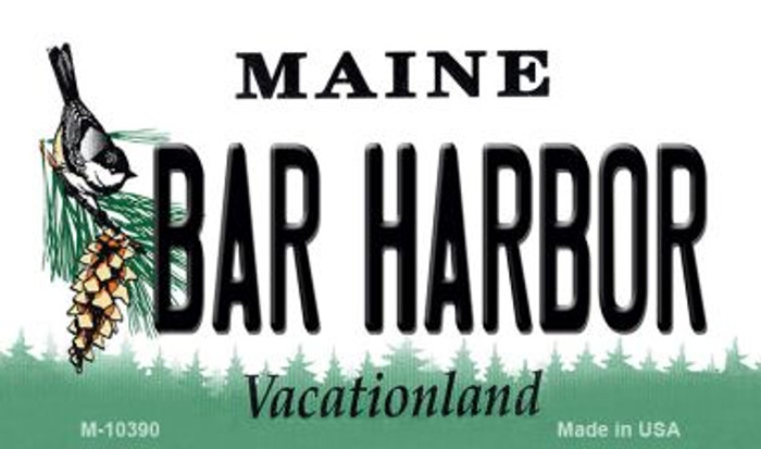 Bar Harbor Maine State License Plate Wholesale Magnet