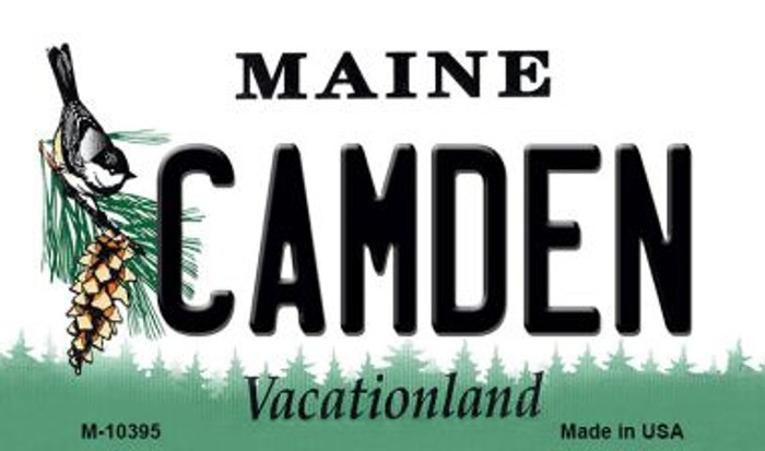 Camden Maine State License Plate Wholesale Magnet