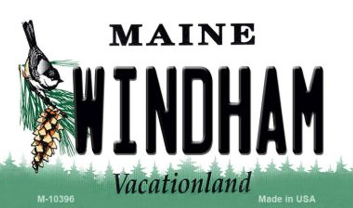 Windham Maine State License Plate Wholesale Magnet