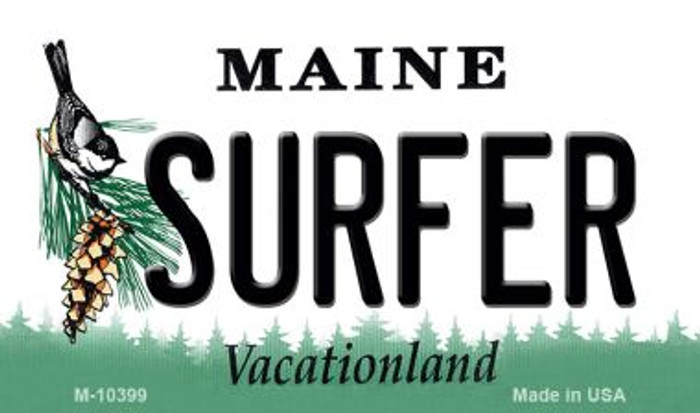 Surfer Maine State License Plate Wholesale Magnet