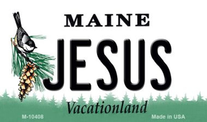 Jesus Maine State License Plate Wholesale Magnet