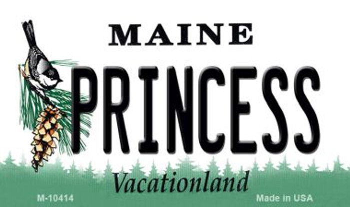 Princess Maine State License Plate Wholesale Magnet