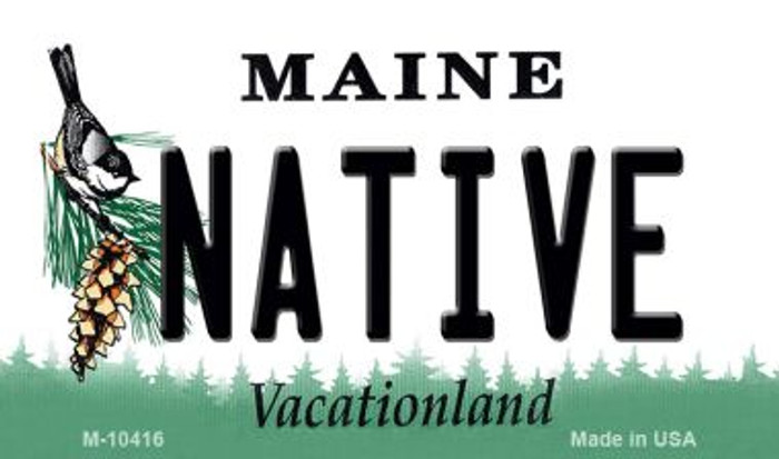 Native Maine State License Plate Wholesale Magnet