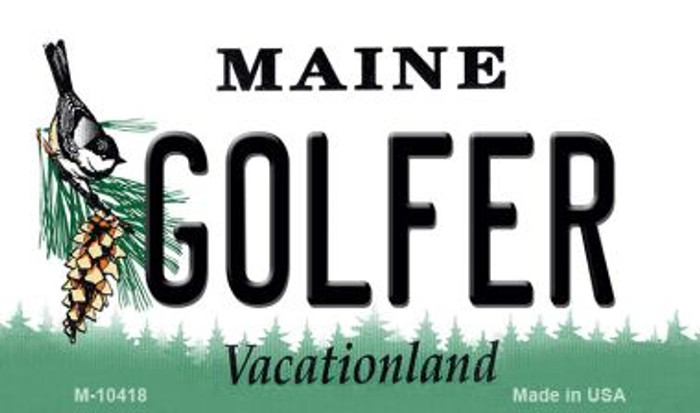 Golfer Maine State License Plate Wholesale Magnet