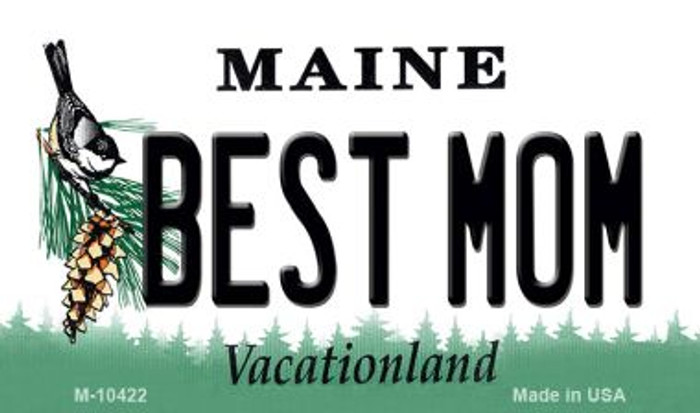 Best Mom Maine State License Plate Wholesale Magnet