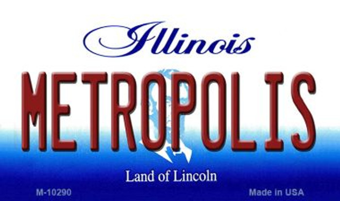 Metropolis Illinois State License Plate Wholesale Magnet