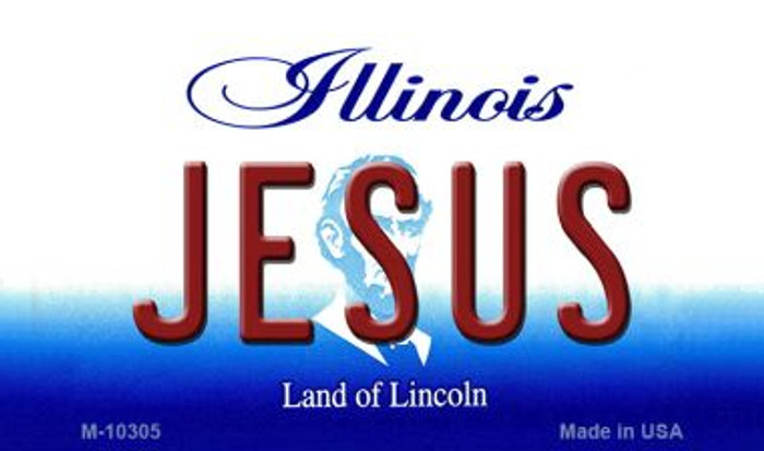 Jesus Illinois State License Plate Wholesale Magnet
