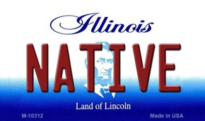 Native Illinois State License Plate Wholesale Magnet