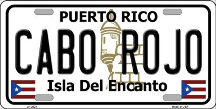 Cabo Rojo Wholesale Metal Novelty License Plate LP-2821