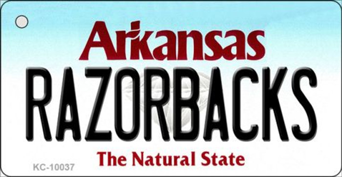 Razorbacks Arkansas State License Plate Wholesale Key Chain KC-10037