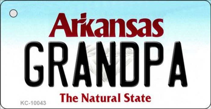 Grandpa Arkansas State License Plate Wholesale Key Chain KC-10043