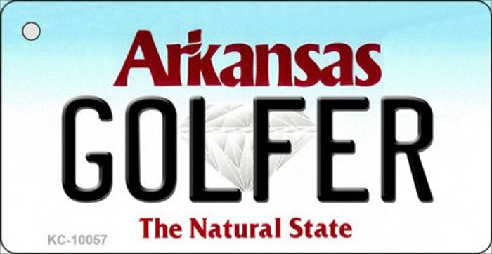 Golfer Arkansas State License Plate Wholesale Key Chain KC-10057