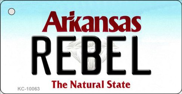 Rebel Arkansas State License Plate Wholesale Key Chain KC-10063