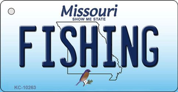 Fishing Missouri State License Plate Wholesale Key Chain