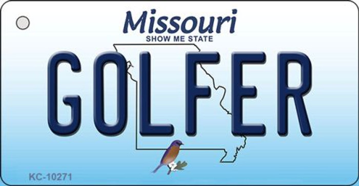Golfer Missouri State License Plate Wholesale Key Chain