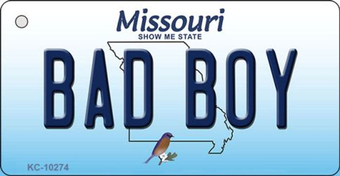 Bad Boy Missouri State License Plate Wholesale Key Chain