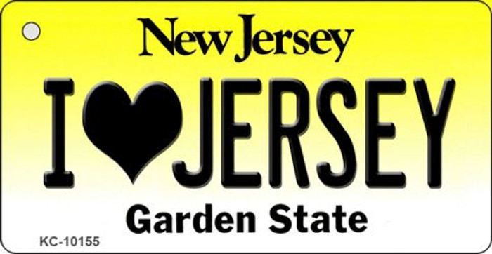I Love Jersey New Jersey State License Plate Wholesale Key Chain