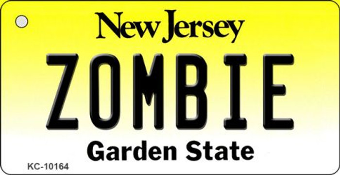 Zombie New Jersey State License Plate Wholesale Key Chain