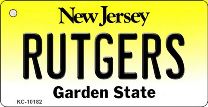 Rutgers New Jersey State License Plate Wholesale Key Chain