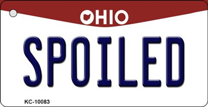 Spoiled Ohio State License Plate Wholesale Key Chain