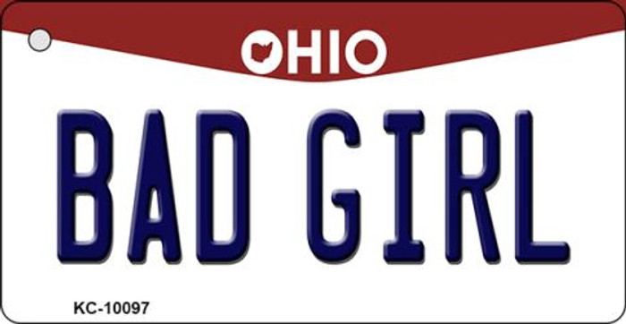 Bad Girl Ohio State License Plate Wholesale Key Chain