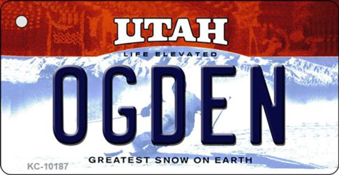 Ogden Utah State License Plate Wholesale Key Chain