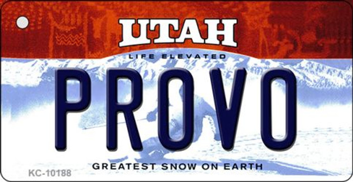 Provo Utah State License Plate Wholesale Key Chain