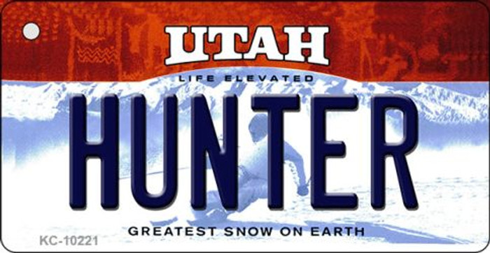 Hunter Utah State License Plate Wholesale Key Chain