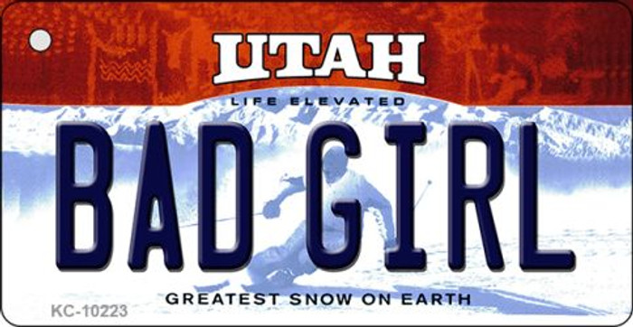 Bad Girl Utah State License Plate Wholesale Key Chain