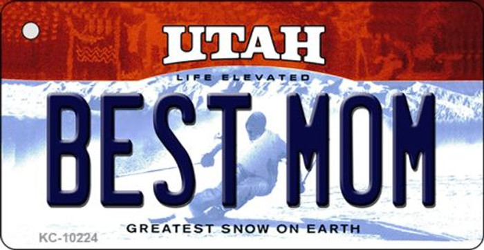 Best Mom Utah State License Plate Wholesale Key Chain
